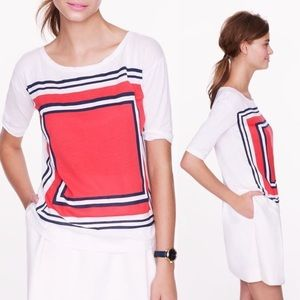 JCrew Factory stripe-square collector tee